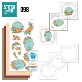 Stitch and Do 98 Floral Birdcages STDO098