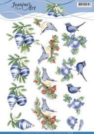 3D knipvel - Jeanine's Art - Blue Christmas CD11176