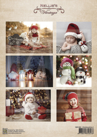 Vintage decoupage sheets Christmastime NEVI082