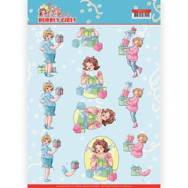 3D cutting sheet - Yvonne Creations - Bubbly Girls - Party - Decorating CD11475