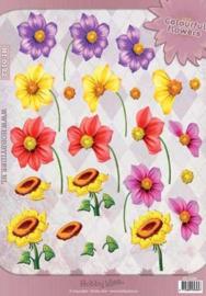 3D vel Bloemen Hobbyidee  HI-0122
