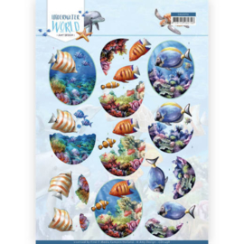 3D Cutting Sheet - Amy Design - Underwater World - Saltwater Fish CD11498