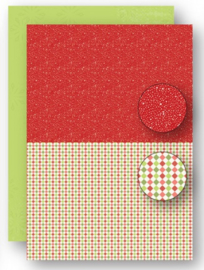 Background sheets doublesided Christmas red dots NEVA065
