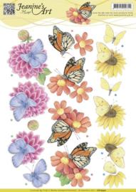 3D Knipvel - Jeanine's Art - Butterflies CD10930