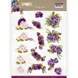 3D cutting sheet - Precious Marieke - Romantic Roses - Purple Rose  CD11613