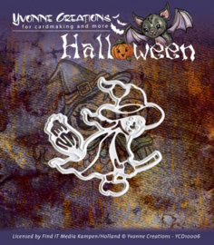 Yvonne Creations mal YCD10006 Halloween witch