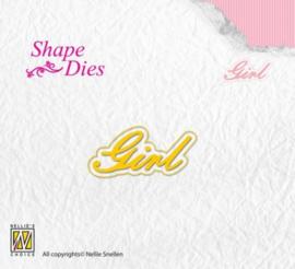 Nellies Choice Shape Die - Tekst Girl SD119
