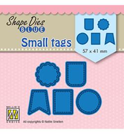 Shape Dies Blue Small tags SDB078