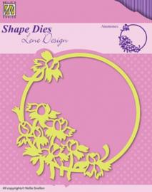 Nellie Snellen Shape Dies - Spring flowers Anemones SDL015