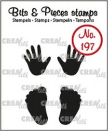 Crealies Clearstamp Bits&Pieces Baby handjes + voetjes (dicht) CLBP197 max. 12x20mm