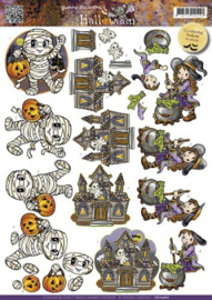 3D Knipvel - Yvonne Creations - Halloween - Little monsters CD10560
