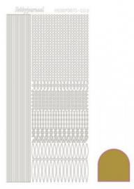 Hobbydots sticker Mirror Gold 003 STDM037