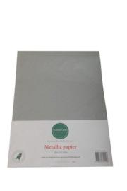Metallic papier Zilver grijs  1103-002