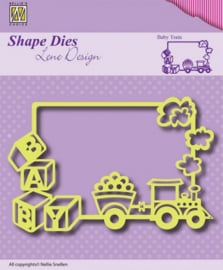 Nellies Choice Shape Die - Rand baby trein SDL011