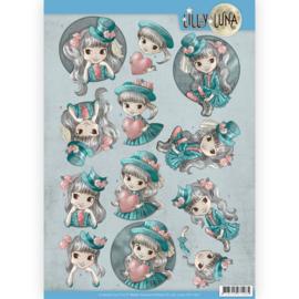 3D Knipvel - Lilly Luna - Stijlvol en fantastisch  CD11427