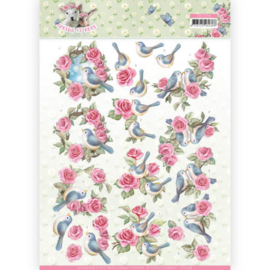 3D Knipvel - Amy Design - Spring is Here - Birds and Roses CD11278