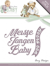 Die - Amy Design - Baby Collection - Text Die ADD10055