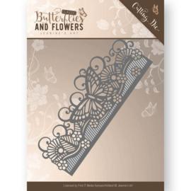 Die - Jeanine's Art - Classic Butterflies and Flowers - Butterfly Border JAD10021