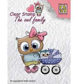 Nellie clear stamp The owl family CSO006