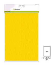 1 PK (1 PK) Papiervel-CV goudgeel 5 ST A4 90GR 001345/0010