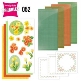 Sparkles Set 52 - Jeanine's Art - Orange Flowers - SPDO052