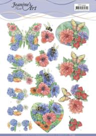3D Cutting Sheet - Jeanine's Art - Summer Flowers CD11493