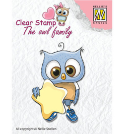 Nellie clear stamp The owl family CSO007