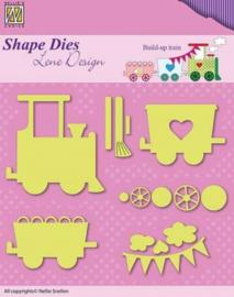 Shape Dies - Lene Design - Baby serie - Build-up train SDL033