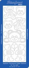 Staform 9400 Bears 4 Transparant Glitter goud
