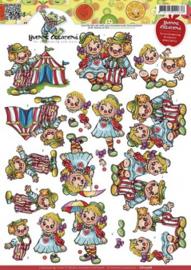 3D Knipvel - Yvonne Creations - Clowns CD10568