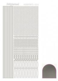 Hobbydots sticker Mirror Zilver 003 STDM038