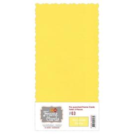 Frame Cards - Accolade - Vierkant: Kanarie geel - FC4K1000306