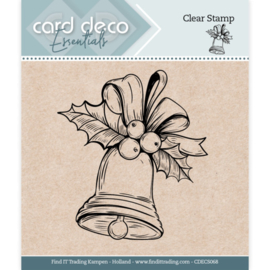 Card Deco Essentials - Clear Stamps - Christmas Bell CDECS068