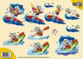 3d A4 Creddy surfen CW10041