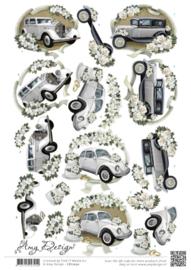 3D knipvel - Amy Design - Wedding Cars CD11050