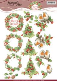 3D Knipvel - Jeanine's Art - Merry Christmas CD11175
