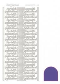 Hobby dots sticker Hartelijk Gefeliciteerd mirror Purple STDMHG09