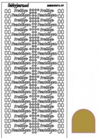 Hobby dots sticker Prettige Feestdagen mirror Goud STDMPF07