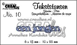 Crealies tekststans - een jongen (NL) CLTS10/ 6x18 mm 10x33mm 115634/3110