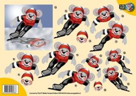 3D A4 knipvel Creddy -schaatser CW10019