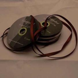 6mm Satijnlint bruin 10 meter op een rol 3242-868