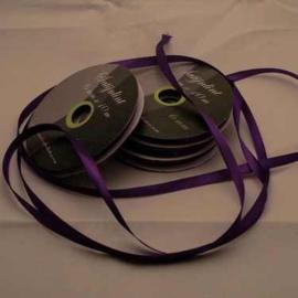 6mm Satijnlint donker paars 10 meter op een rol 3242-470