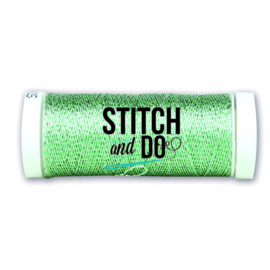 Stitch and Do Sparkles Embroidery Thread - Silver-Green SDCDS13
