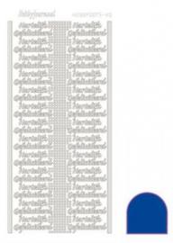 Hobby dots sticker Hartelijk Gefeliciteerd Mirror Blue STDMHG0A
