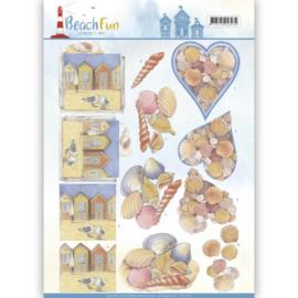 3D knipvel - Jeanine's Art - Beach Fun - Seashells CD11070
