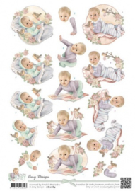 3D Knipvel - Amy Design - Baby Collection - Vintage baby CD10684