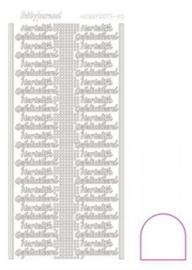 Hobby dots sticker Hartelijk Gefeliciteerd Adhesive Wit STDAHG00