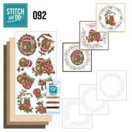 Stitch and Do 92 - Christmas Owls STDO092