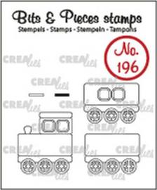 Crealies Clearstamp Bits&Pieces Trein + wagons CLBP196 max. 19x22mm