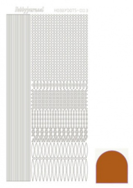 Hobbydots sticker Mirror Brown 003 STDM03G